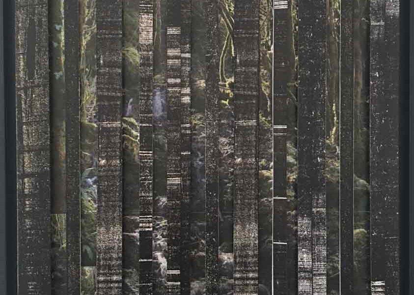 forêt cascade - 60x60 cm