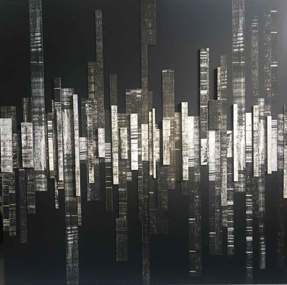 Line on the horizon - 100 x 100 cm